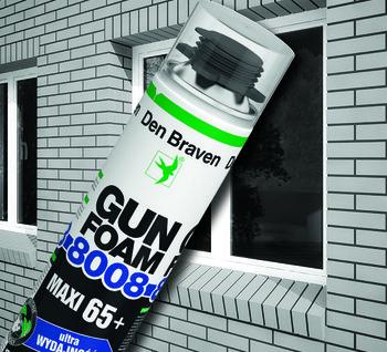 Montaż pełną parą - piana pistoletowa Gun Foam 8008 Maxi 65+ firmy Den Braven