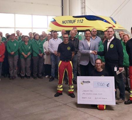 Debratec GmbH spendet € 500 für regionalen Rettungsdienst