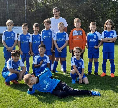Neuer Trikot-Sponsor des TSV Urdenbach, Fußball-Mannschaft der E-Jugend