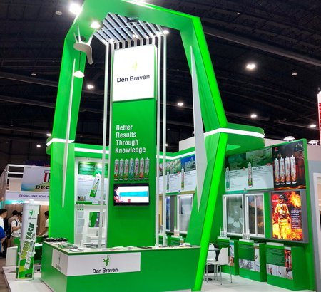 Impressive Exhibition Booth by Den Braven's Thailand distributor, TN Polycarbonate