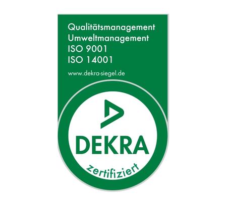 Debratec ISO 9001 und 14001 Zertifikate